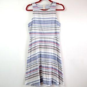 Zara Basic Denim | Striped Fringe Dress